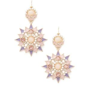 BRAND NEW Rhinestone Starburst Drop Earrings